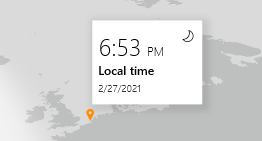 There is a (hidden) world clock in windows